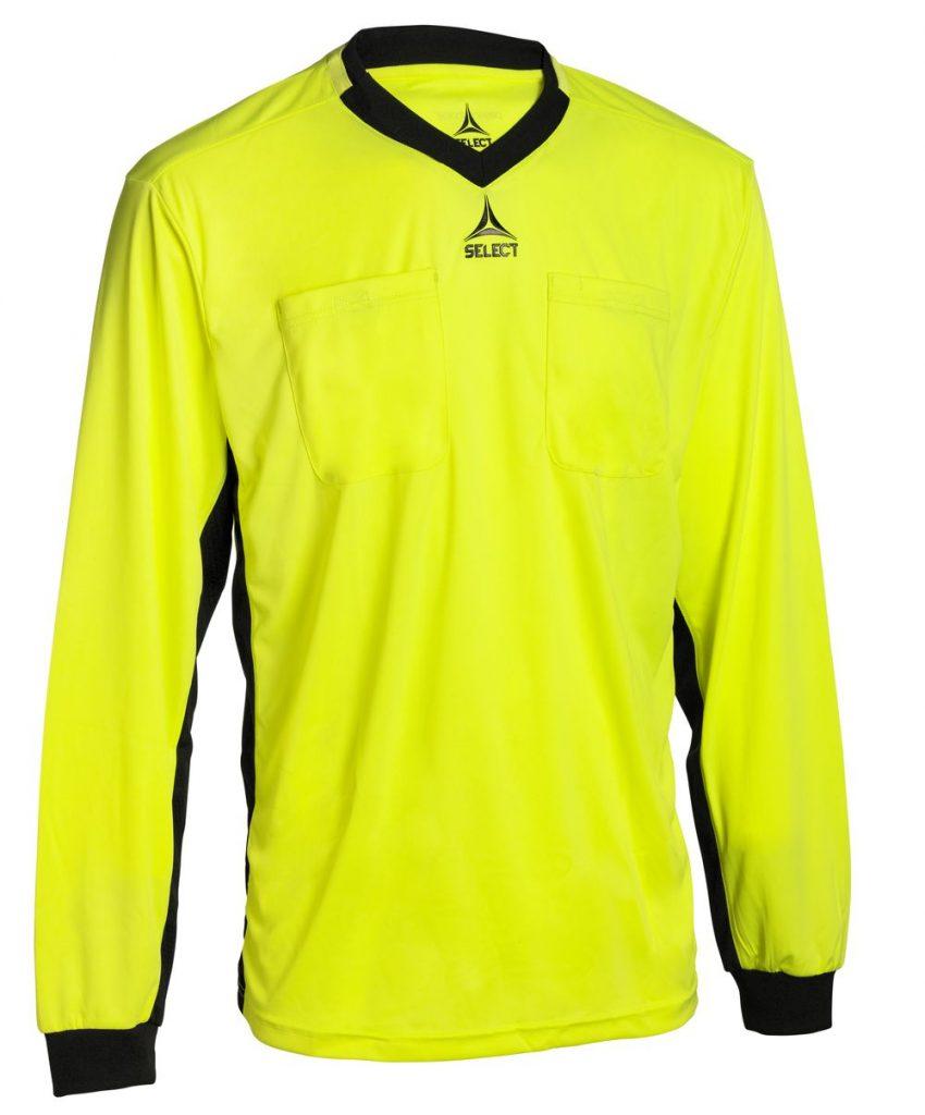 Select Scheidsrechters Shirt L/S Geel/ Zwart V21